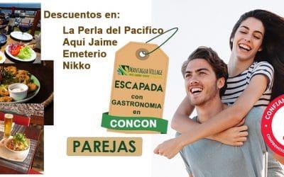 ESCAPADA DE SEMANA CON MEDIA PENSION + GASTRONOMIA CON UN 20 % DE DESCUENTO EN LOS MEJORES RESTAURANTES DE CONCON + APERITIVO DE REGALO